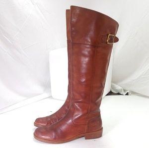 Coach 7.5 Joele Tan Leather Boots